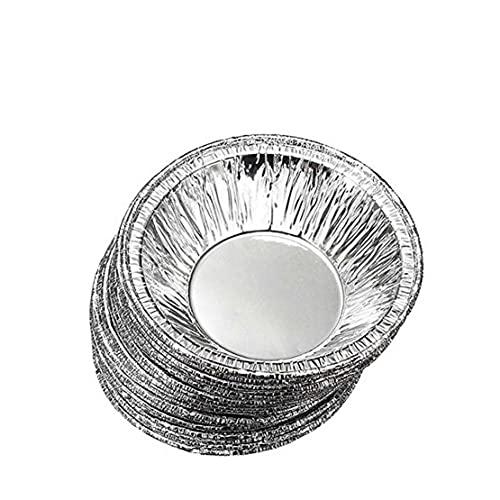230 PCS de una sola vez del papel de aluminio redonda tarta de galleta de la magdalena sartenes Pudín de huevo tarta molde forrado de relleno pica la empanada sartenes o las natillas de láminas Casos