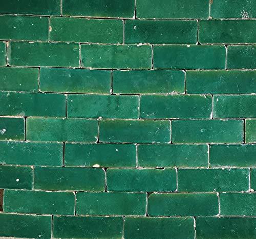 20Stk. Cotto Ziegel Bejmat Brikett Bodenplatte Bodenfliesen Fliese (Bejmat grün klein)