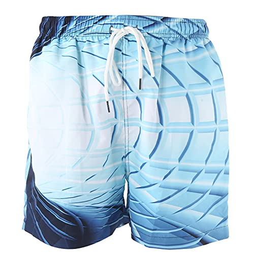 Okuyonic Pantalones Cortos con cordón para Hombre, Pantalones Cortos cómodos y duraderos para Hombre Tejido Mezclado con Fibra química para Nadar para Hombres para Rafting(Photo Color, L)