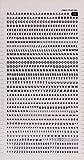 APLI DDB11F - Lettere e numeri trasferibili neri Lettere e numeri super 3 mm Nero