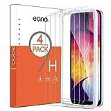 Eono Essentials [4 Piezas] Protector de Pantalla para Samsung Galaxy A50, Cristal Templado, Sin despegamiento, Sin Burbujas