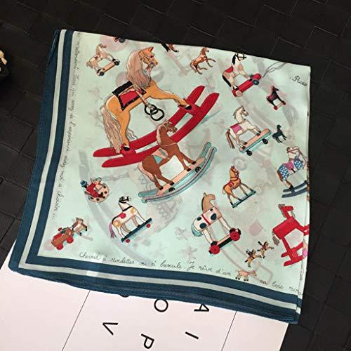 FZJDX Seda Bufanda Mujer Seda Bufanda Morera Seda otoño e Invierno Todo-Partido versión Coreana de la Playa Delgada Toalla Chal Protector Solar de Gran tamaño Bufanda de Gasa