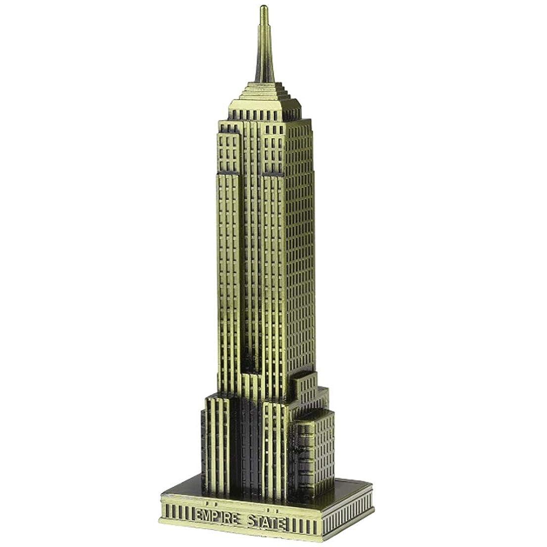 委員会プレゼント最高市ヴィンテージブロンズ8.6インチニューヨーク像のエンパイアステートビルディングモデルグッズ置物ホームデスクトップの装飾、レプリカ、グッズ人工世界の有名な建物の彫刻