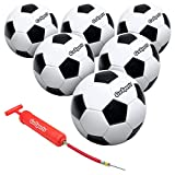 GoSports Size Soccer Ball 6 Pack Classic Soccerball 6 Pack - Size - with Premium Pump and Carrying Bag, Black/White, 4