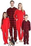 Sleepyheads Holiday Family Matching Fleece Buffalo Plaid Onesie Pajamas Jumpsuit, Buffalo Paid, Women's XL