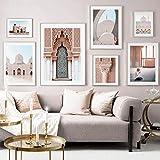 ZDFDC Allah Muslim Islamische Moschee Marokko Tür Poster