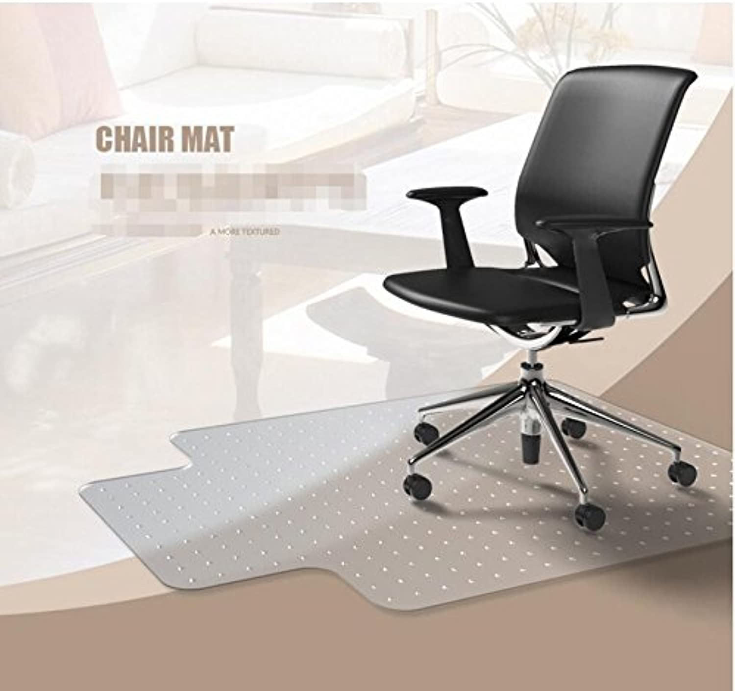 PVC mats Transparent Floor mat Non-Slip Wood Floor mats Predector Computer Chair pad Swivel Chair mat Office Chair mat-B 90x120cm(35x47inch)