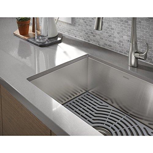 "Kohler K-20023-PC-NA STERLING Ludington 24"" Under-Mount Single-Bowl Kitchen Sink with Accessories, Medium Basin, Stainless Steel Massachusetts"