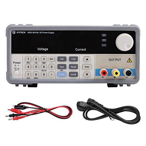ivytech iv-6003alimentación DC variable de precisión programable 60V ajustable alimentación lineal 3A DC Grade de laboratorio de alimentación DC régulée Digital (230vprise UK)