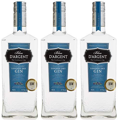 Bleu D\'Argent London Dry Gin (3 x 0.7 l)
