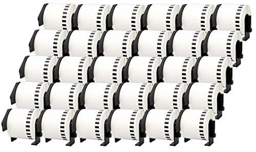 30x DK-22205 62mm x 30,48m Endlosetiketten Papier kompatibel für Brother P-Touch QL-1050 QL-1060N QL-1110NWB QL-1100 QL-500 QL-500BW QL-560VP QL-570 QL-580 QL-700 QL-710W QL-800 QL-810W QL-820NWB