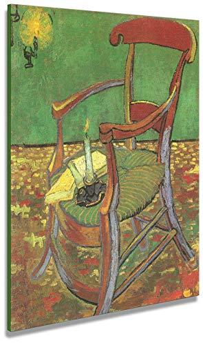 Artenòr - Cuadro Van Gogh La silla de Paul Gauguin 1888 - Impresión sobre lienzo enmarcado - 74 x 90 cm