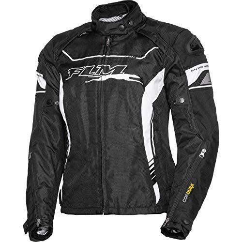 FLM Motorradjacke mit Protektoren Motorrad Jacke Sports Damen Textiljacke 2.1 schwarz S, Sportler, Ganzjährig