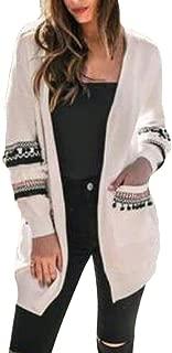 Women Stitch Kint Long Sleeve Fashion Open-Front Cardigan Black US Small
