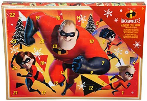 Los Increíbles 2 Calendario de Adviento para Niños con Crayones Pegatinas Holográfico Juguete Disney Pixar para Niñas Actividad Creativa
