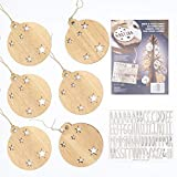 VINTIUN Bolas de Navidad Personalizadas con Nombre, Decoración Navideña Original para...