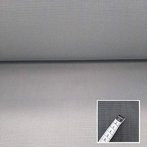 Seat Gard - Bezugsstoff für Gartenmöbel - Schimmelbeständig, Wasserdurchlässig, Windbremsend, Schwerentflammbar, Reissfest (Hellgrau)