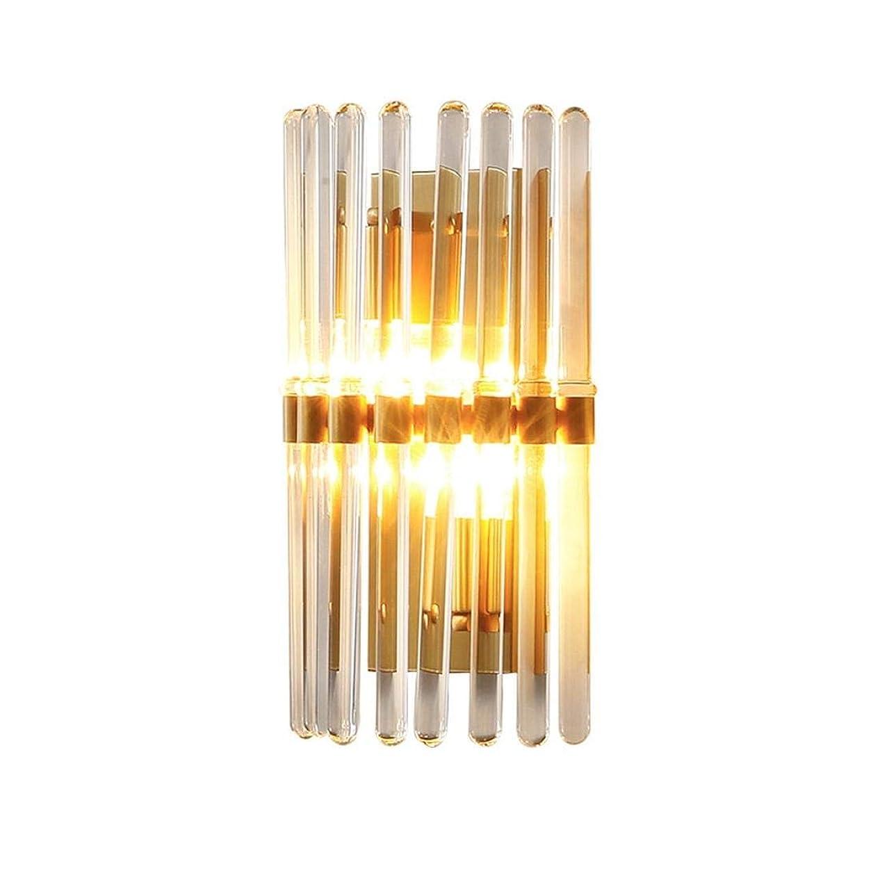 有益呼ぶ公平なTAALESET 現代の銅の壁ランプクリスタルリビングルームの壁シンプルなベッドサイドランプの寝室の照明プラグインウォールランプアイケアテーブルランプ (色 : As picture)