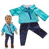 American Girls Doll Ropa - Ropa de Abrigo para American Girl 18 Pulgadas Muñecas Accesorios Tops Chaleco Pantalones Ropa de Muñecas Verano 2019 Doll Ropa Set, Sencillo Vida