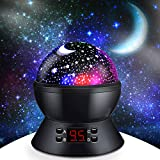 Star Projector Night Light with 360-Degree Rotating/Timer, SCOPOW Kids Star Night Light wi...