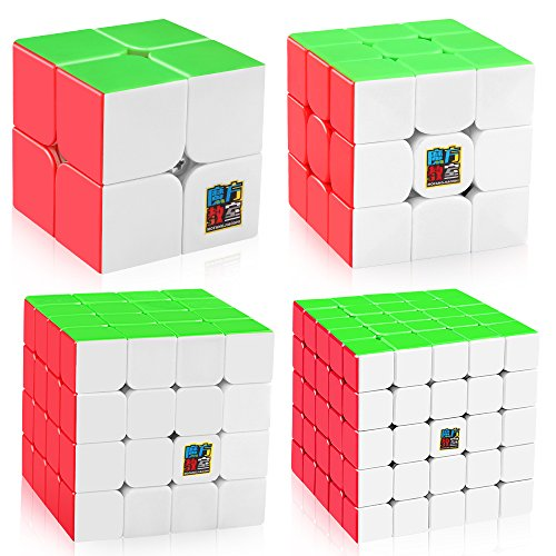 D-FantiX Speed Cube Set, Moyu Mofang Jiaoshi MF2S 2x2 MF3S 3x3 MF4S 4x4 MF5S 5x5 Stickerless Speed Cubes Bundle with Gift Box