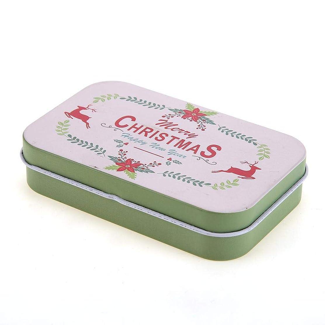 Powlancejp 収納ボックス 収納ケース 長方形 金属缶 キャンディーコンテナ キャンディーオーガナイザー かわいいタイプ クリスマス プレゼント 7