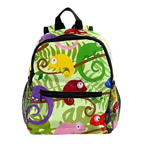 Mochilas para niños, linda mochila ligera y resistente para niños y niñas, correa para el pecho, básculas verdes