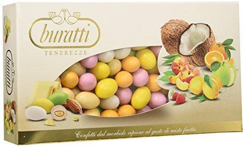 Buratti Confetti con Ripieno alla Frutta, Gusti Assortiti, Tenerezze Misto Frutta Colorati - 1000 g