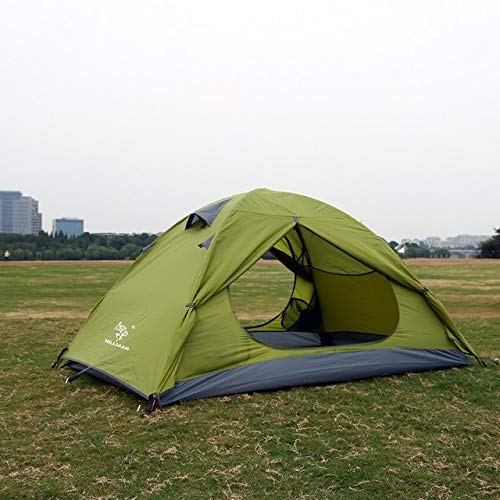 Mdsfe Outdoor tent professional hand with ultra-light 3-4 people double deck windproof waterproof camping tent-green