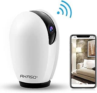 AKASO Cámara de Seguridad 1080P HD IP WIFI Cámara de Vigilancia Monitor para Bebé Trabaja con Alexa, Google Home y Fire TV Compatible con iOS, Android