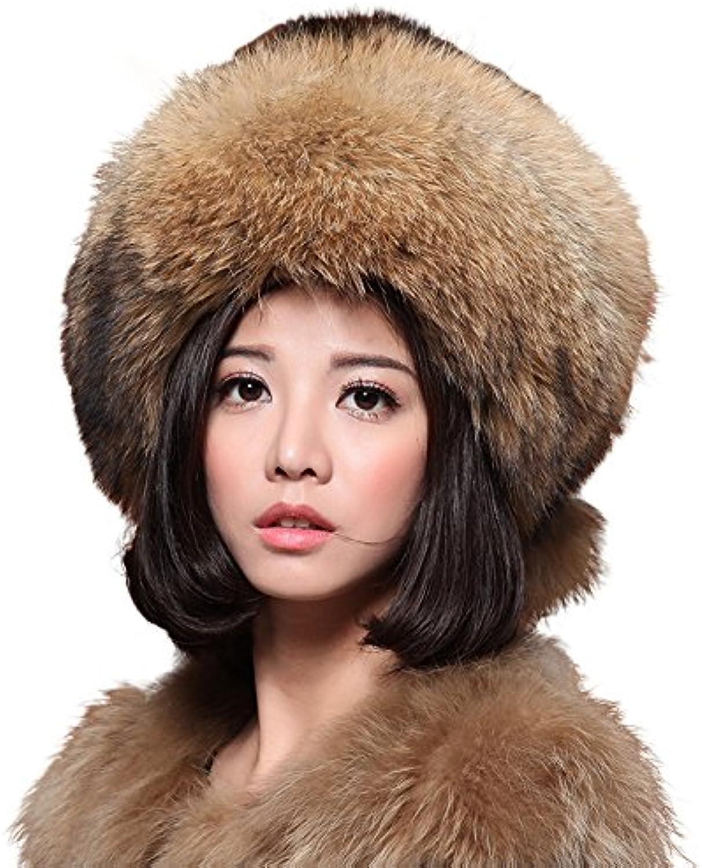 Mingxin womens genuine mink fur russian style snow skiing hat winter outdoors