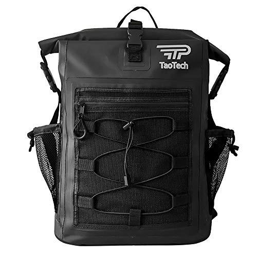 【TaoTech】 防水 バッグ リュック サック パック 25L 大容量 アウトドア 旅行 ドライバッグ 男女兼用 ドライバッグ (25L, タイプA/ブラック)