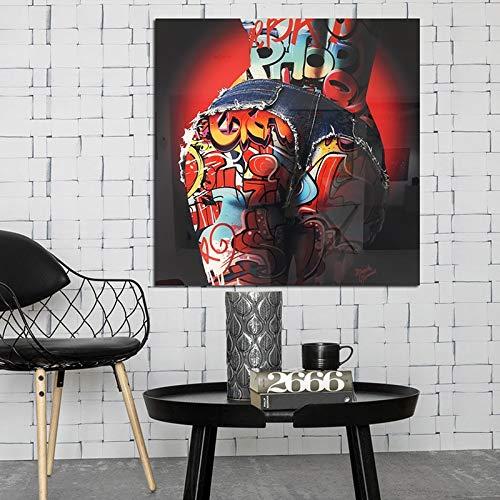 Aaubsk DIY Pintar por números Obra Popular de la Imagen del Color del Arte del Culo Atractivo de la Pintada Pintura por números para niños con Kits de Pincel y Pintura acrílica40x40 cm(Sin Marco)