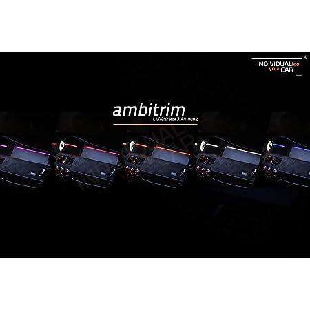 EL Ambiente Lichtleiste Ambientebeleuchtung f/ür 3er E46 Armaturenbrett Cool-White