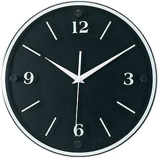 "Tempus TC6011B Wall Clock with Wood Frame and Daylight Saving Time Auto-Adjust Movement, 12"", Black"