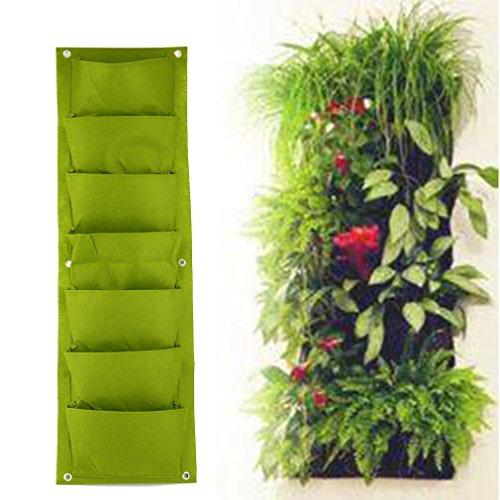 Nouvelle Upgraded Deeper Et Bigger 7 Pocket, Plantation Mural Vertical Vert Jardin Planteur Fleur Grandir Sac 7 Pocket