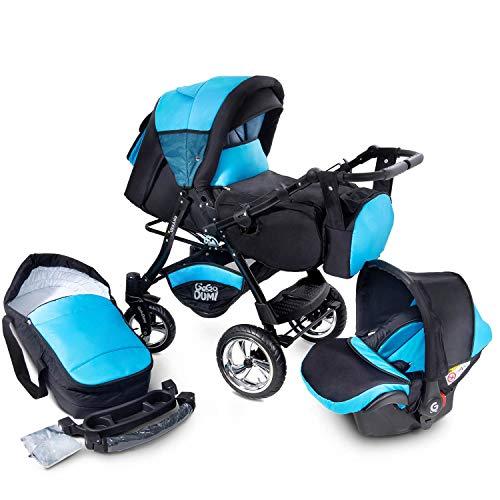 Buggie Urbano Oceanic | 3-in-1-System | Kinderwagen, Kombikinderwagen, Babyschale, Autositz System | Zwei-Wege-Griff | Travel System | Moderner, Leichter Trolley mit Allem Zubehör Inklusive