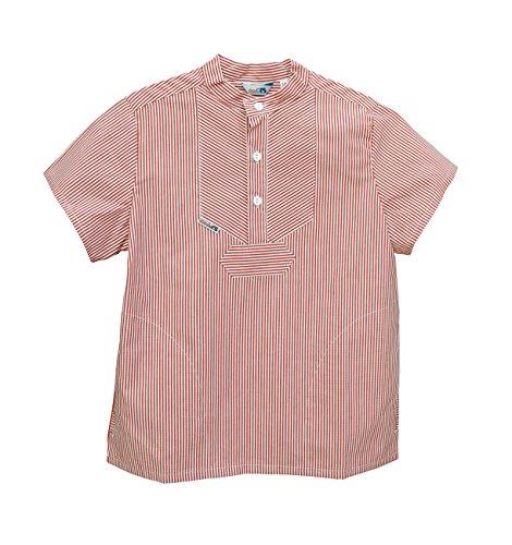 AS Bekleidungswerk GmbH Modas Sommer Kinder Fischerhemd Kurzarm, Größe:92, Farbe:rot/weiß