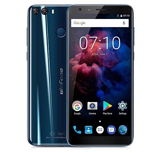 """Ulefone MIX 2 Smartphone 4G Android 7.0 (MTK6737 Quad Core 1.3GHz, 5.7"""" 18:9 HD+ Schermo, 2GB RAM 16GB ROM, 13MP+5MP+8MP Camera, Fingerprint ID, Dual SIM, 3380mAh Batteria, GPS, WIFI, OTG) Blu"""