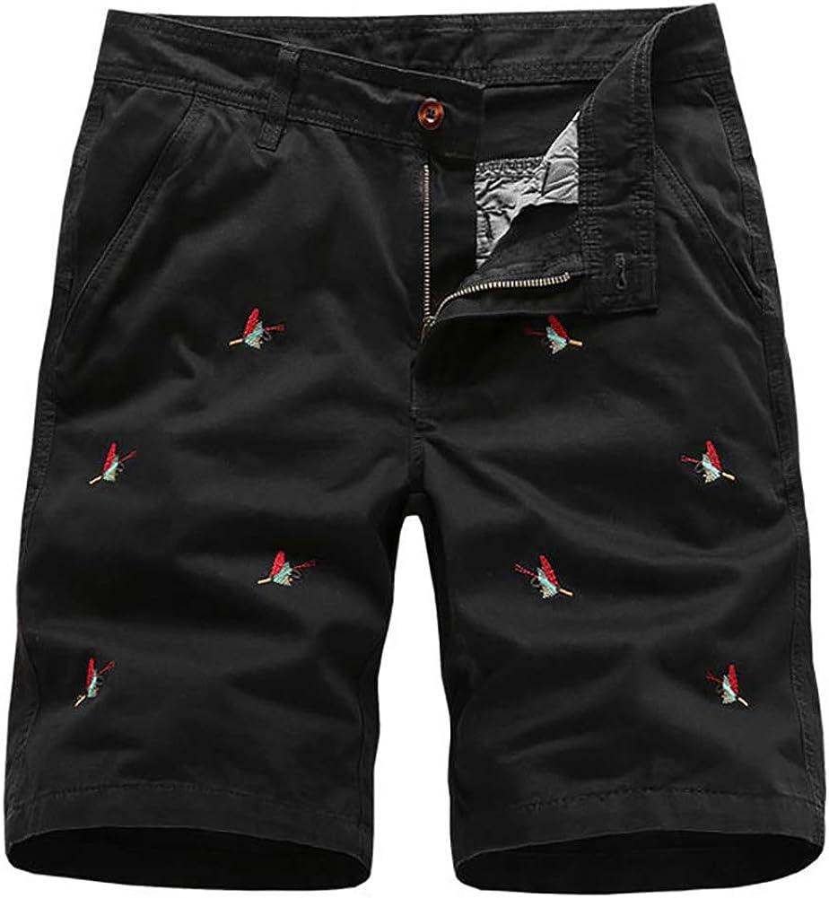 Men's Cargo Shorts - Outdoor Wear Lightweight Classic Fit Short Pants Black