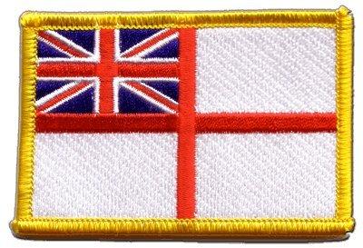 Flaggen Aufnäher Großbritannien British Navy Ensign Fahne Patch + gratis Aufkleber, Flaggenfritze®