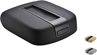 VeCarTech Center Console lid Arm Rest Cover Replacement for 2007-2014 Chevy Chevrolet Silverado,Tahoe,Suburban,Avalanche,GMC Sierra,Yukon,Yukon XL Armrest Center Console Cover Lid Kit 15217111(Black)