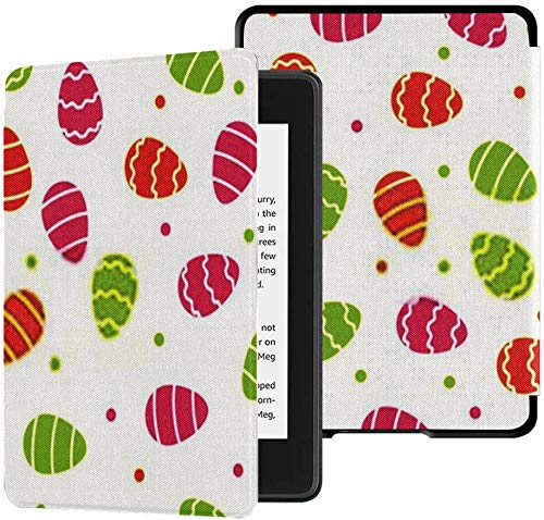 Völlig Neue wasserfeste Kindle Paperwhite-Stoffhülle (10. Generation, Version 2018), Easter Eggs Pattern Background Tablet Case
