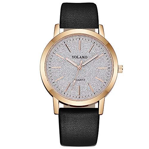 Damen Uhr, sunnymi Quarz Lederband Sternenhimmel Uhr analoge Armbanduhr (A)