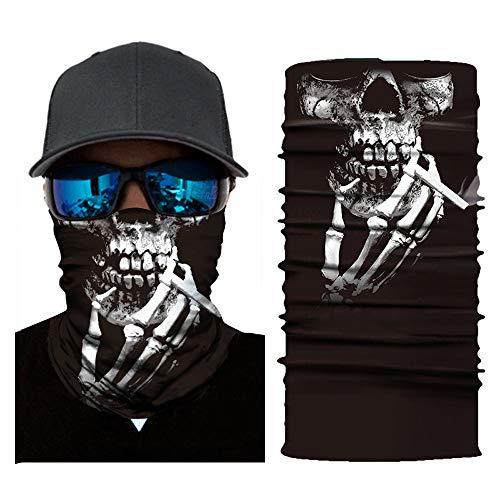 Preisvergleich Produktbild Feitb Face Shield Maske Radfahren Halstuch Motorrad Kopftuch Multifunktionstuch Sturmmaske Gesichtsmaske Ski Balaclava Stirnband Sturmhaube Halloween (E)