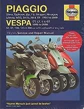 HAYNES 1991-2009 PIAGGIO & VESPA SCOOTERS SERVICE MANUAL (3492)