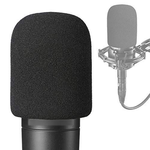 AT2035 Pop Filter Foam Cover - Mic Windscreen Wind Cover Customized for Audio Technica AT2035 Condenser Microphone to Blocks Out Plosives
