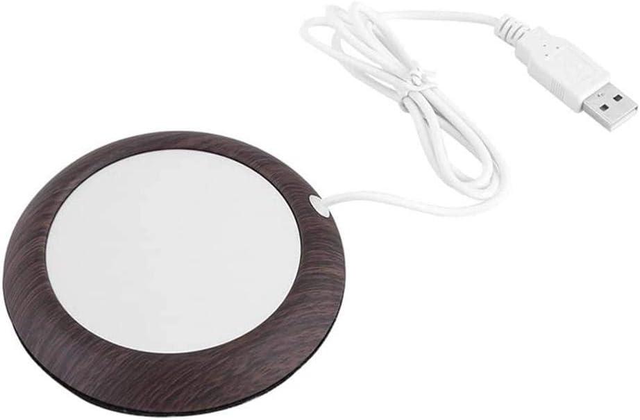 Mug Warmer USB Max 48% High quality OFF Wood Grain Heat Mat Offi Cup Beverage