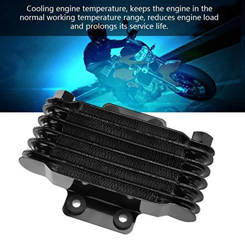 Enfriador de aceite Radiador Enfriador de aceite del motor para 85ml Kit de sistema de enfriador de aceite de motocicleta para motocicleta(black)