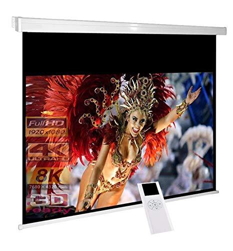 RolloLux Écran motorisé 300 x 169 cm - Format 16:9 / FULL-HD / 3D / 4K / 8K / Home Cinema /...